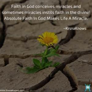 Absolute Faith in God