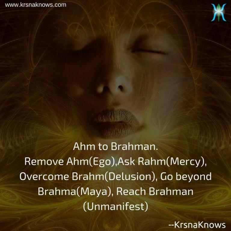 Ahm to Brahman