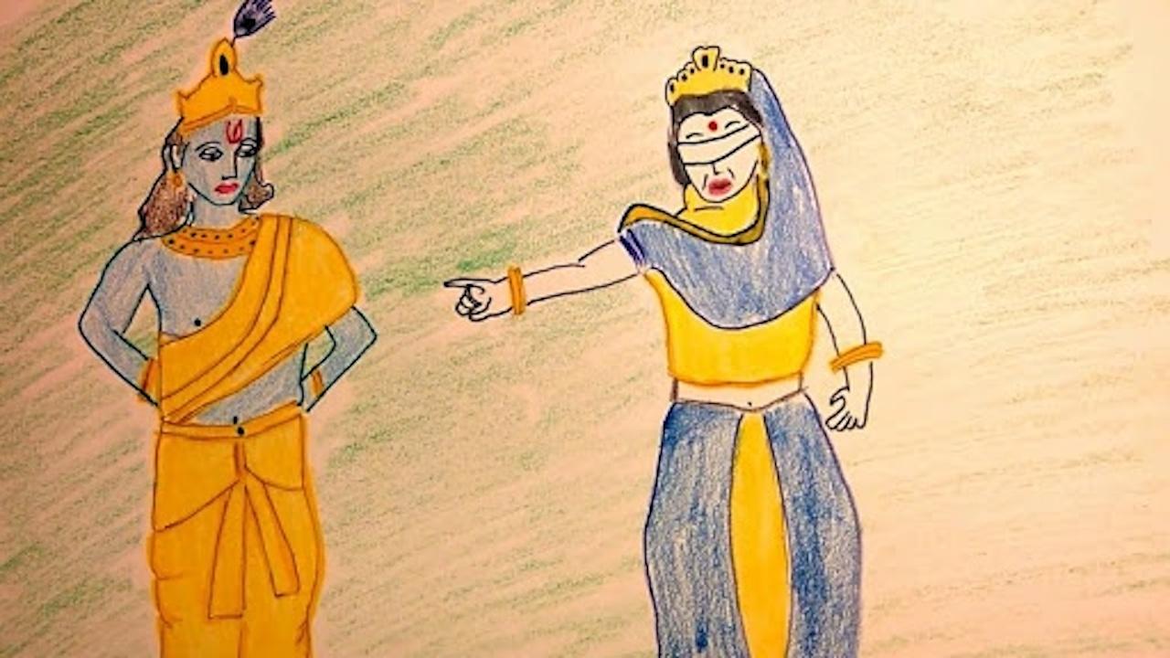 Gandhari Curse to Lord Krsna